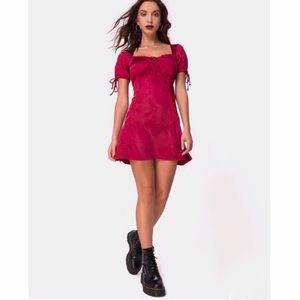 ⚡️SALE⚡️Motel Rocks Guenelle Satin Cherry Dress
